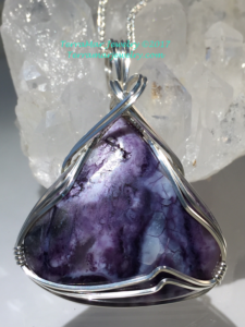 Tiffany Stone in .935 Argentium Silver